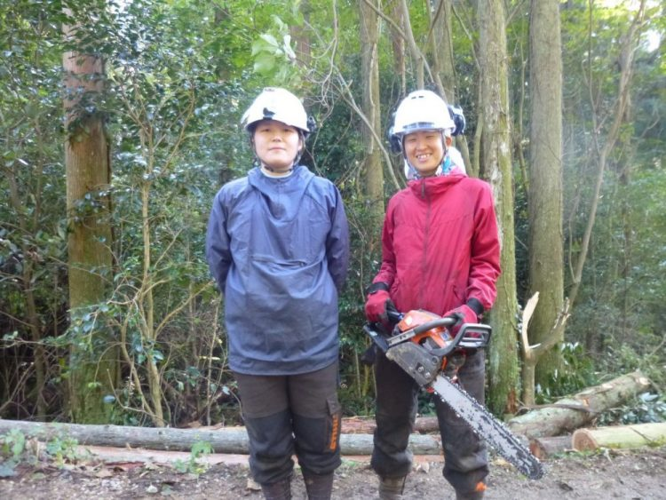 UJIターンで山口県に移住した人の仕事風景「林業」